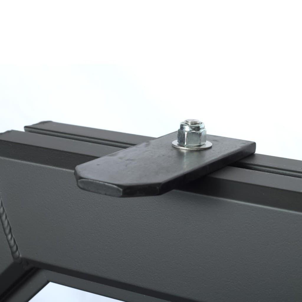 A matte black antenna bracket