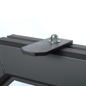 A matte black antenna bracket
