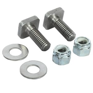 Two washers, nuts, and bolts