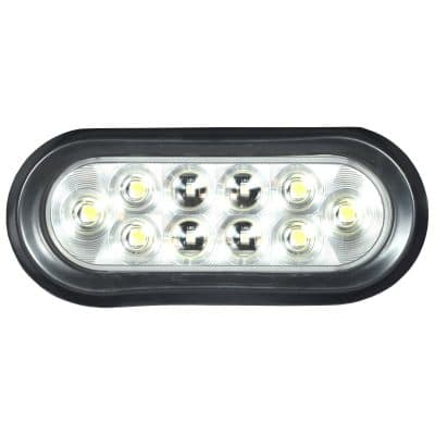 A six inch clear led stop, tail, turn light