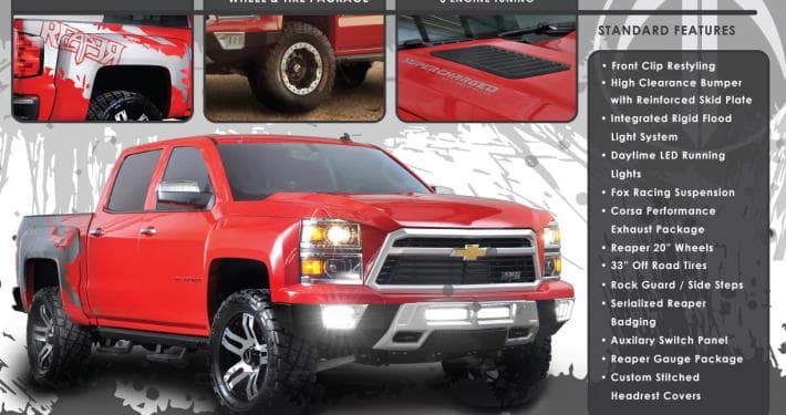 Chevy Reaper Price >> Chevy Reaper Package