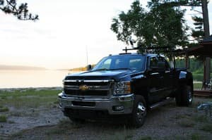 dually ladder rack