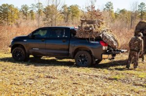Truck Loaded With Hunting Gear