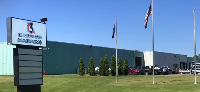 F3 MFG Inc's location in Waterville, Maine.
