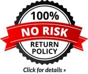 100% No Risk Return Policy