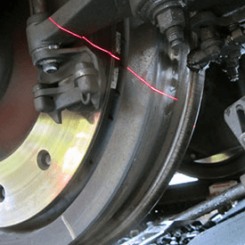 Brake pad inspection