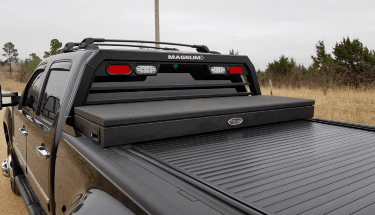 Truck Headache Rack-  Low Pro Magnum Rack with tonneau cover