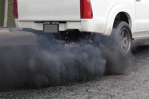 smoking coming out of truck before diesel delete kit