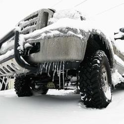 truck with winter tires