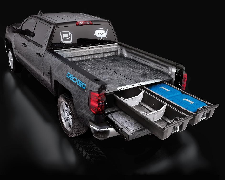 firearm accessories decked truck bed storage
