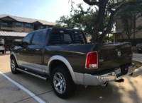 2017 Dodge Ram 1500 with Low Pro Rack with Window Cutout and Lights