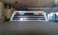 Aluminum headache rack on 2015 Chevy Silverado 2500